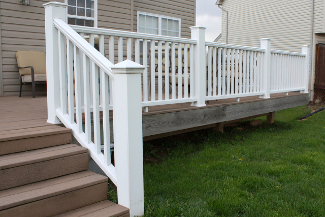 Deck Railing on a home deck