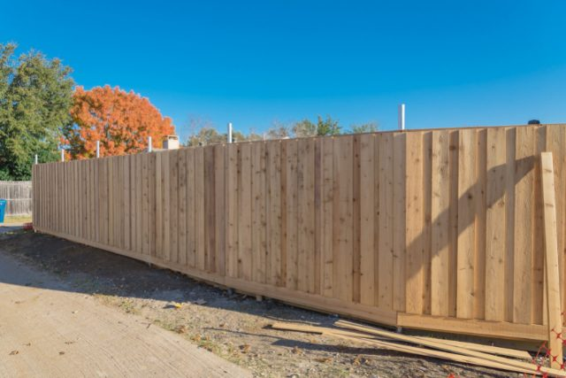 Residential Fence Installation Completed Project