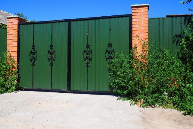 Residential custom metal fence gate